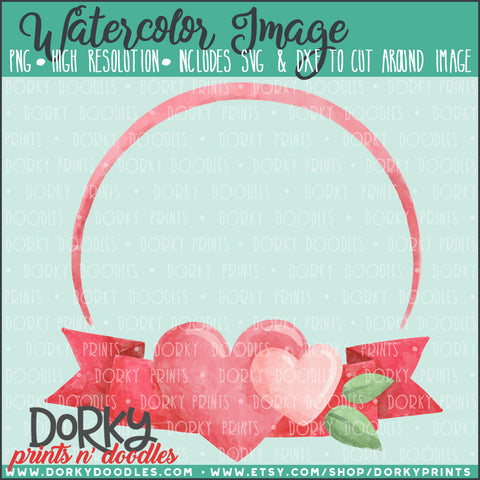 Valentine's Day Watercolor PNG