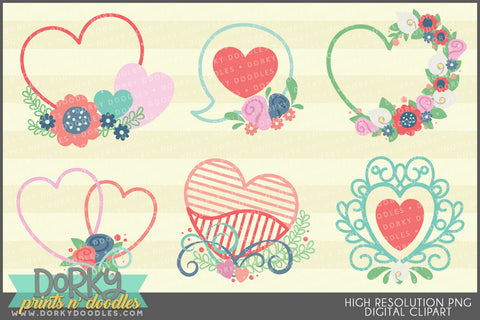Cute Hearts Valentine Clipart