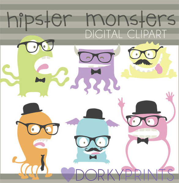 Hipster Monsters Sci-fi Clipart