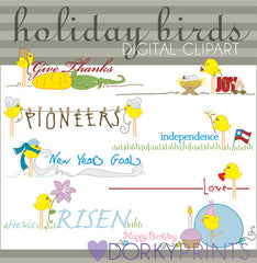 Birds Holiday Clipart