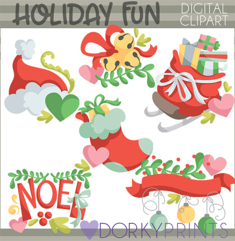 Fun Holiday and Christmas Clipart