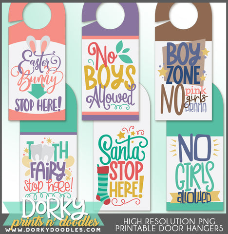 Print and Cut Door Hanger Clipart