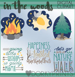 In the Woods Clipart