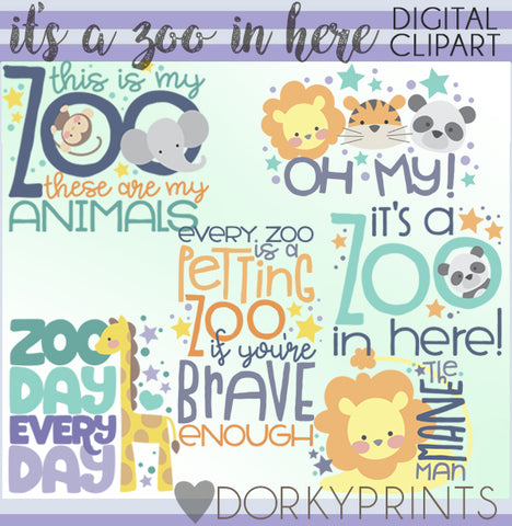 It's a Zoo in Here Animals Clipart