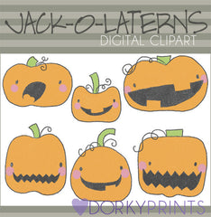 Jack-o-Laterns Halloween Clipart