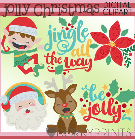 Santa and Elf Christmas Clipart