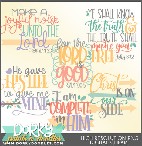 Joy in Him Words and Titles Clipart