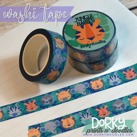 Baby Jungle Animal Washi Tape