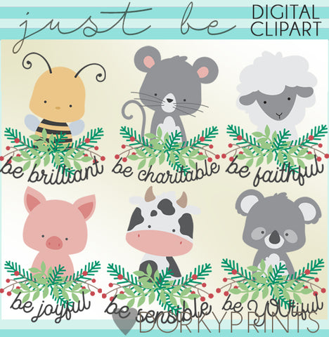 Just Be Animals Clipart