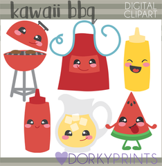 Kawaii BBQ Food Clipart
