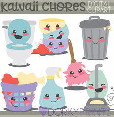 Cute Chores Fun Clipart