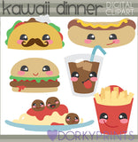 Kawaii Dinner Food Clipart
