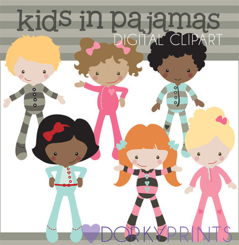 Pajamas Kid Clipart