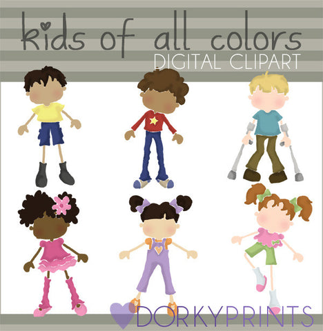 Kids of all Colors Kid Clipart