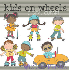 Wheels Kid Clipart