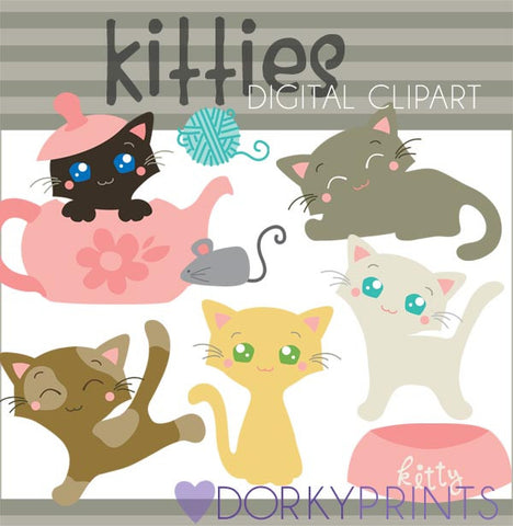 Kitty Animals Clipart