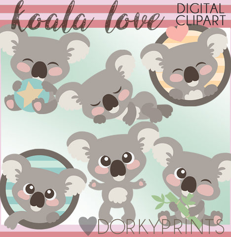 Cute Koala Animals Clipart