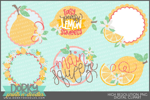 Cute Lemon Food Clipart