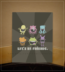 "Friendly Monsters 8x10"" Printable"