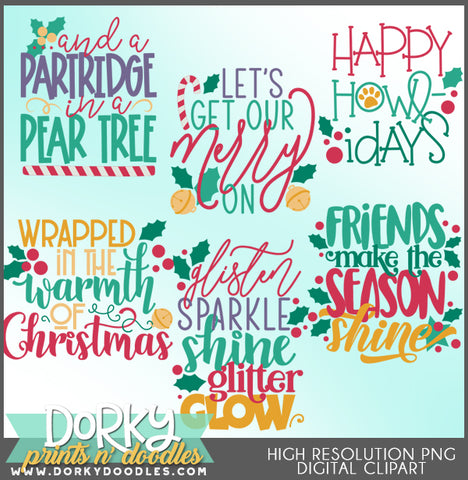 Fun Words and Titles Christmas Clipart
