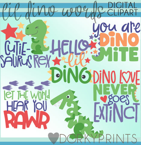 Dinosaur Wordart Animals Clipart