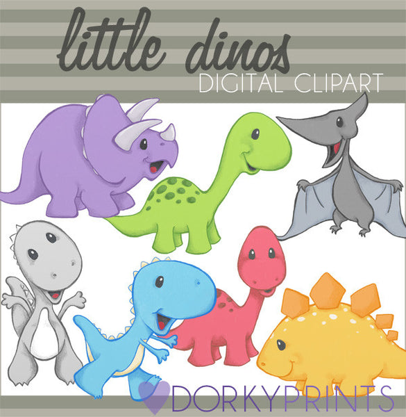 Cute Dinosaur Animals Clipart