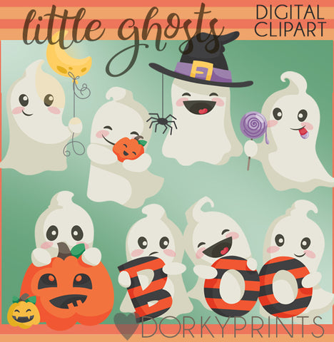 Ghosts Halloween Clipart