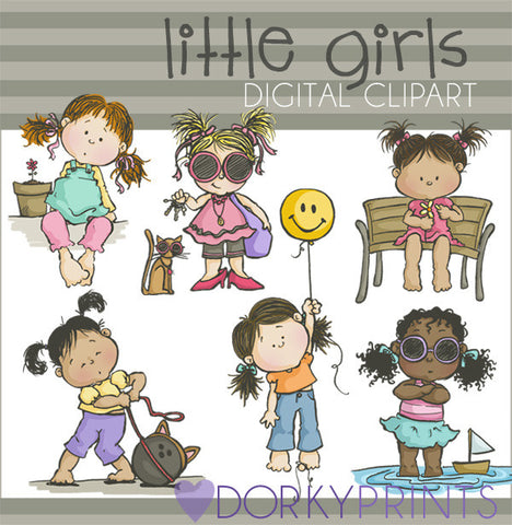 Little Girls Kid Clipart