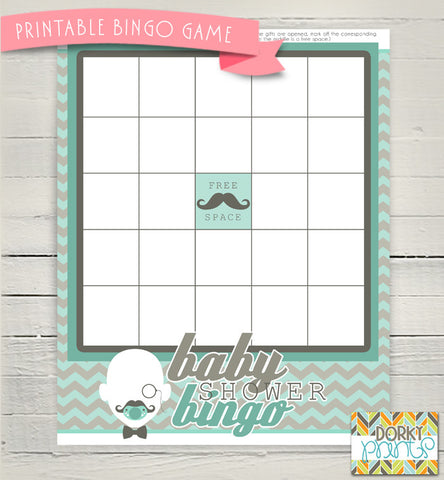 Little Man Bingo Game Baby Shower Printables