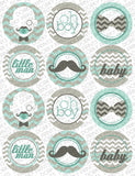Little Man Circle Tags Baby Shower Printables