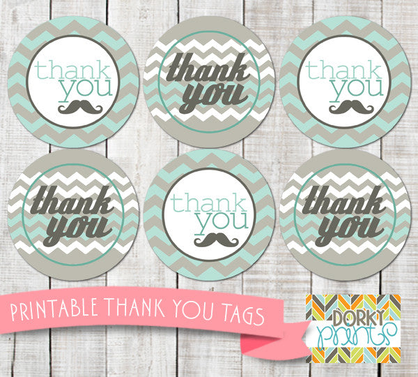Little Man Thank You Tags Baby Shower Printables Dorky Doodles
