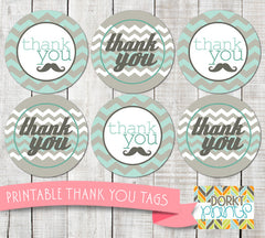 Little Man Thank You Tags Baby Shower Printables