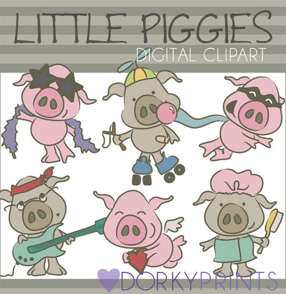 Funny Pig Animals Clipart