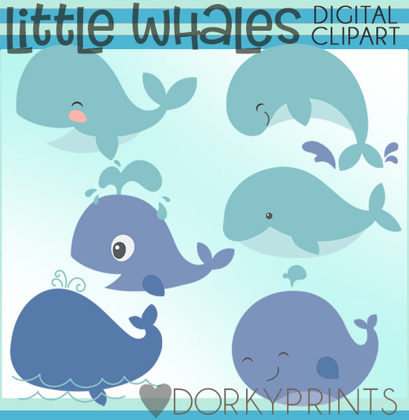 Cute Whale Summer Clipart