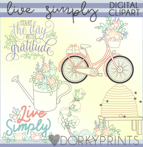 Live Simply Clipart