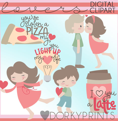 Lovers Valentine Clipart
