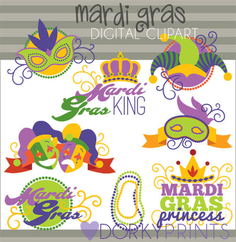 Mardi Gras Holiday Clipart
