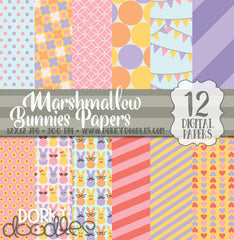 Marshmallow Bunnies Digital Paper Pack