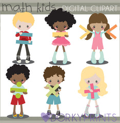 Math Kids School Clipart
