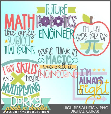 Math STEM School Clipart
