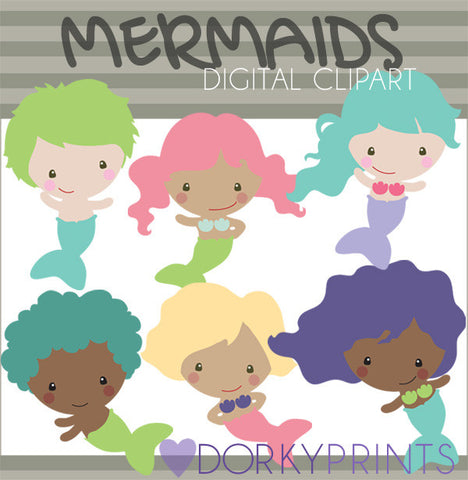 Mermaids Summer Clipart