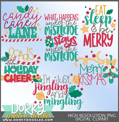 Silly Words and Titles Christmas Clipart