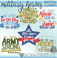 Military Hero Honor and Fun Clipart