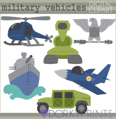 Military Vehicles Clipart
