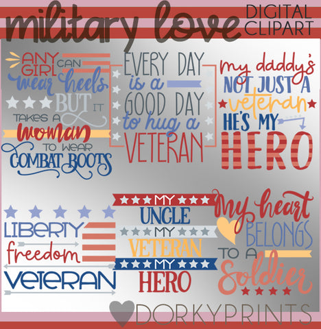 Military Love Summer Clipart