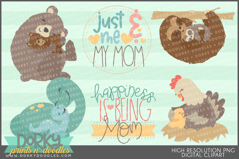 Moms and Babies Holiday Clipart