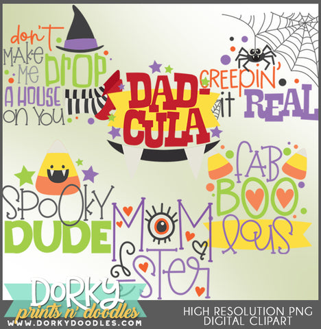 Cute Words for Halloween Clipart