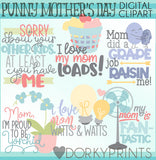 Punny Mother's Day Word Art Holiday Clipart