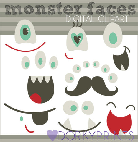 Make a Monster Face Sci-fi Clipart