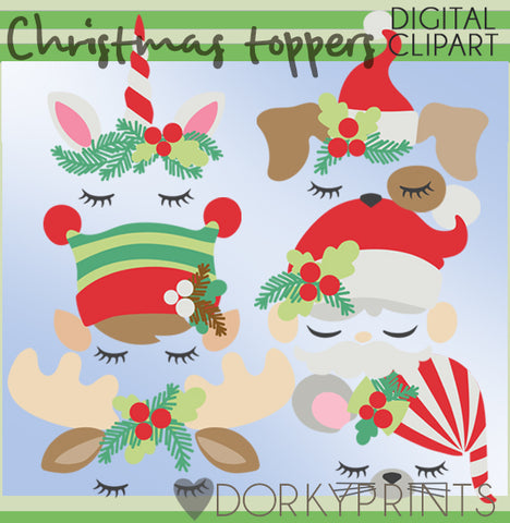 Toppers for Christmas Clipart